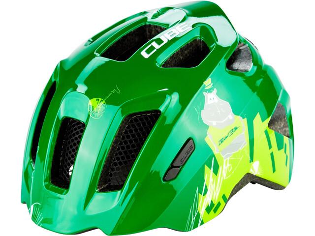 Cube Fink Helm Kinder green